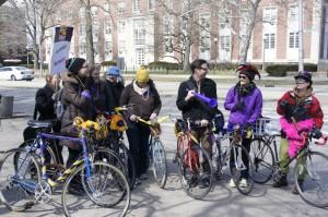 SEIU bike picket