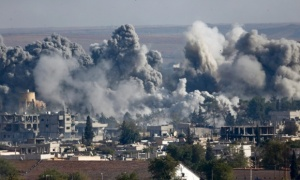 U.S. Air strikes on Kobani (Guardian)