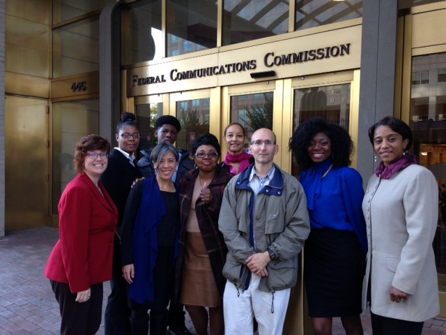 IMC at the FCC: Wandjell Harvey Robinson () and Danielle Chynoweth () lobby for Prison Phone Justice.