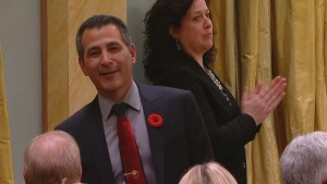 New Minister of Fisheries, Oceans and the Canadian Coast Guard Hunter Tootoo, the second Inuk to ever be appointed to a cabinet position.